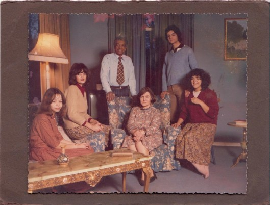 The Cameron family in 1978 L to R: Serena, Jane, Earl, Audrey, Simon, Helen
